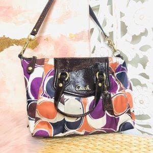 EUC Coach Multicolor Graphic Shoulder Bag